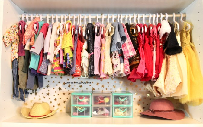 American Girl Doll Storage Clothes Organization Closet