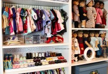 American Girl Doll Storage Clothes Organization Closet