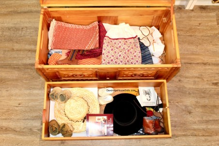 American Girl Doll Storage Josefina Clothes Trunk Organization