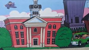 Murfreesboro's Vine Street Marketplace Mural section 2