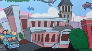 Murfreesboro's Vine Street Marketplace Mural section 1