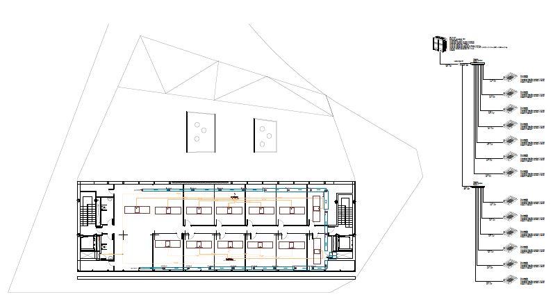 Imágenes de los planos la Instalación de Climatización