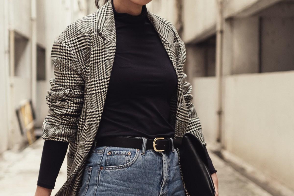 Zara oversized plaid blazer