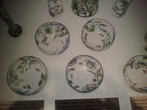Beautiful China on display in the Rennie Mackintosh room.
