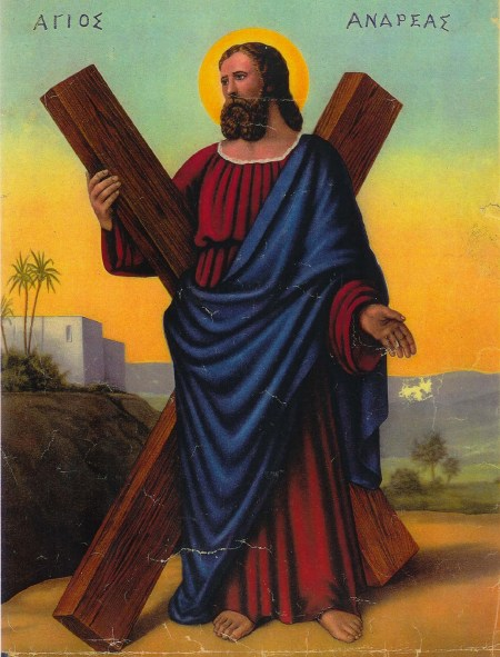 Here's the man himself, St Andrew.