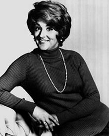 Fannie Flagg as pictured in 1972 and looking very glam.