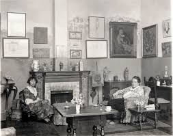 Alice (left) and Getrude (right) at home in Paris.