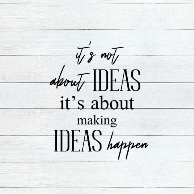It's not about ideas