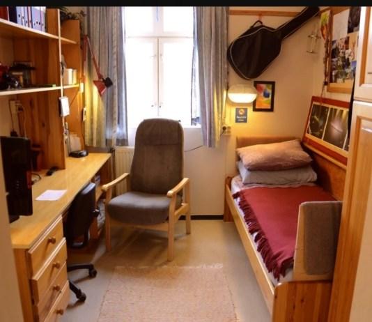Celula dintr-o închisoare din Danemarca