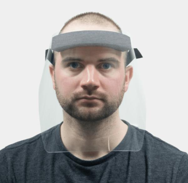 Fluid-resistant disposable face shield