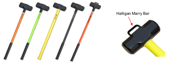 "8# Sledge, OAL 36"", Lime Fiberglass Handle with Flash Reflector & Black Grip"