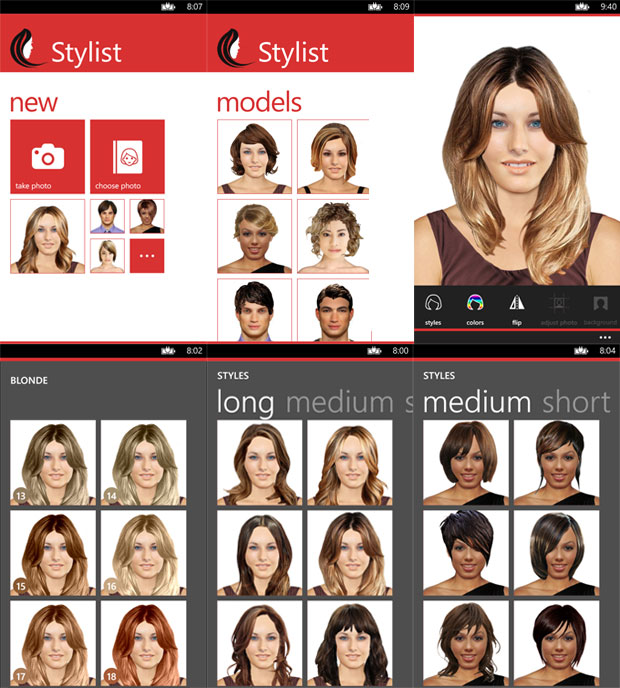 Stylist Lets You Try Out New Hair Styles On Your Windows Phone