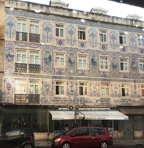 Azulejos Buildings view from tram