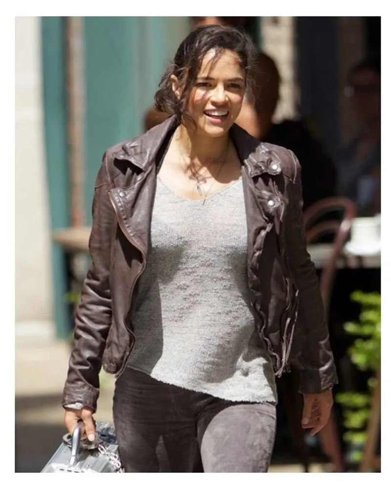 Letty Fast And Furious : letty, furious, Furious, Letty, Ortiz, Brown, Leather, Jacket