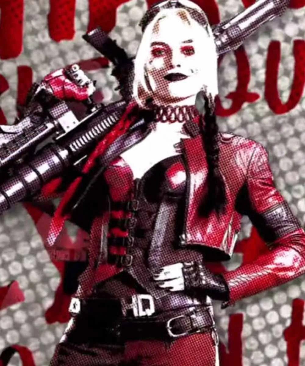 Harley Quinn Suicid Squad : harley, quinn, suicid, squad, Margot, Robbie, Suicide, Squad, Harley, Quinn, Leather, Jacket