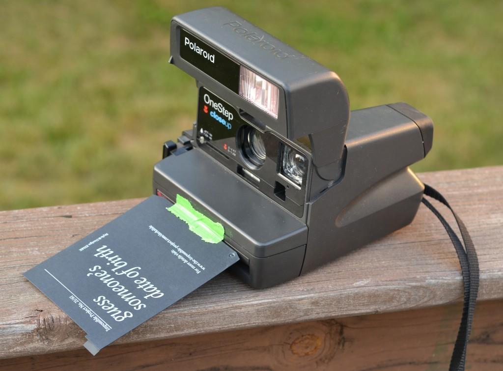 Polaroid OneStep Closeup with darkslide