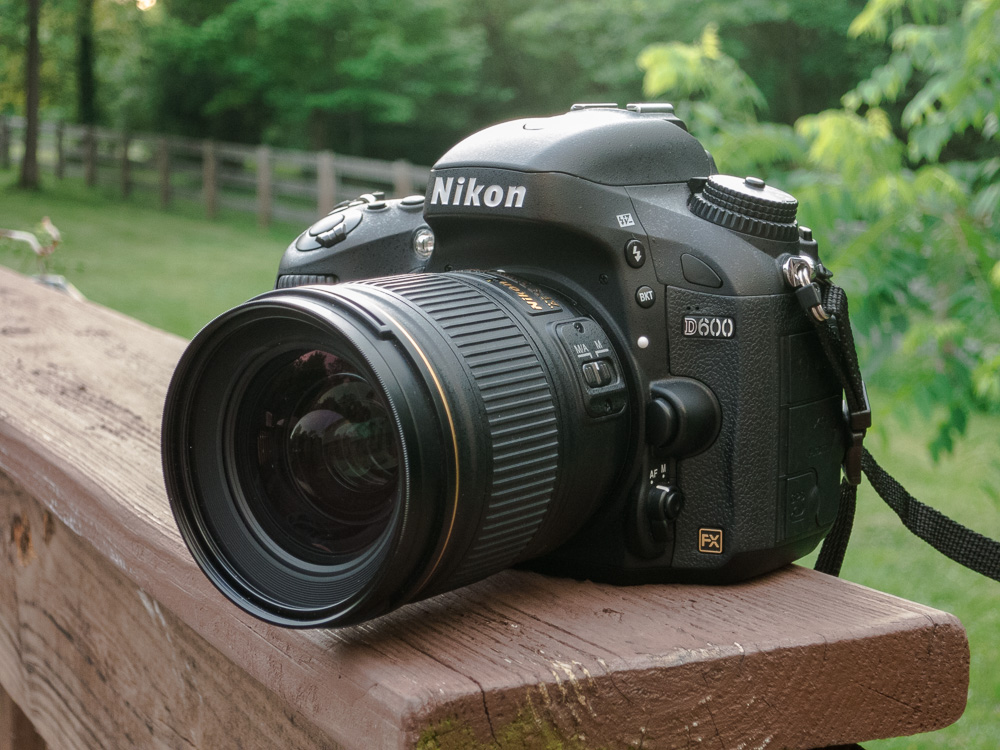 The Nikon D600 hanging out with my trusty Nikon 28mm f1.8.