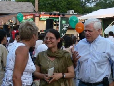 Adriana Mugnatto-Hamu, Paula Fletcher and Peter Tabuns