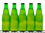 Green pub night beer bottles