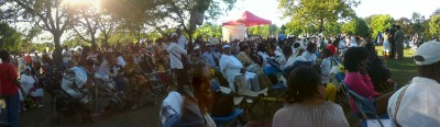 Crowd celebrating Ethiopian New Year at Christie Pits Park