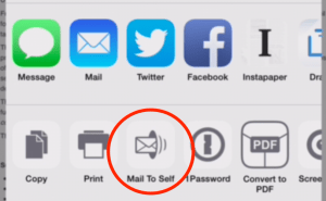 Just tap this button to quickly share the content with yourself.