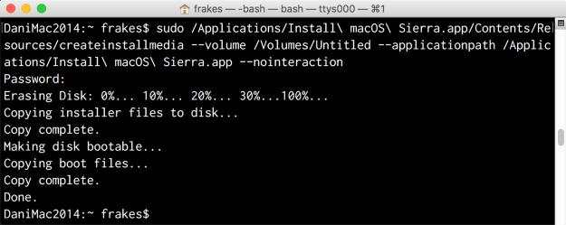 How to make a bootable macOS High Sierra (10.13) or Sierra (10.12)  installer drive | DanFrakes.com