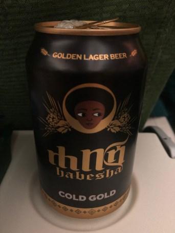 エチオピア航空ET673便で提供されたエチオピアビール