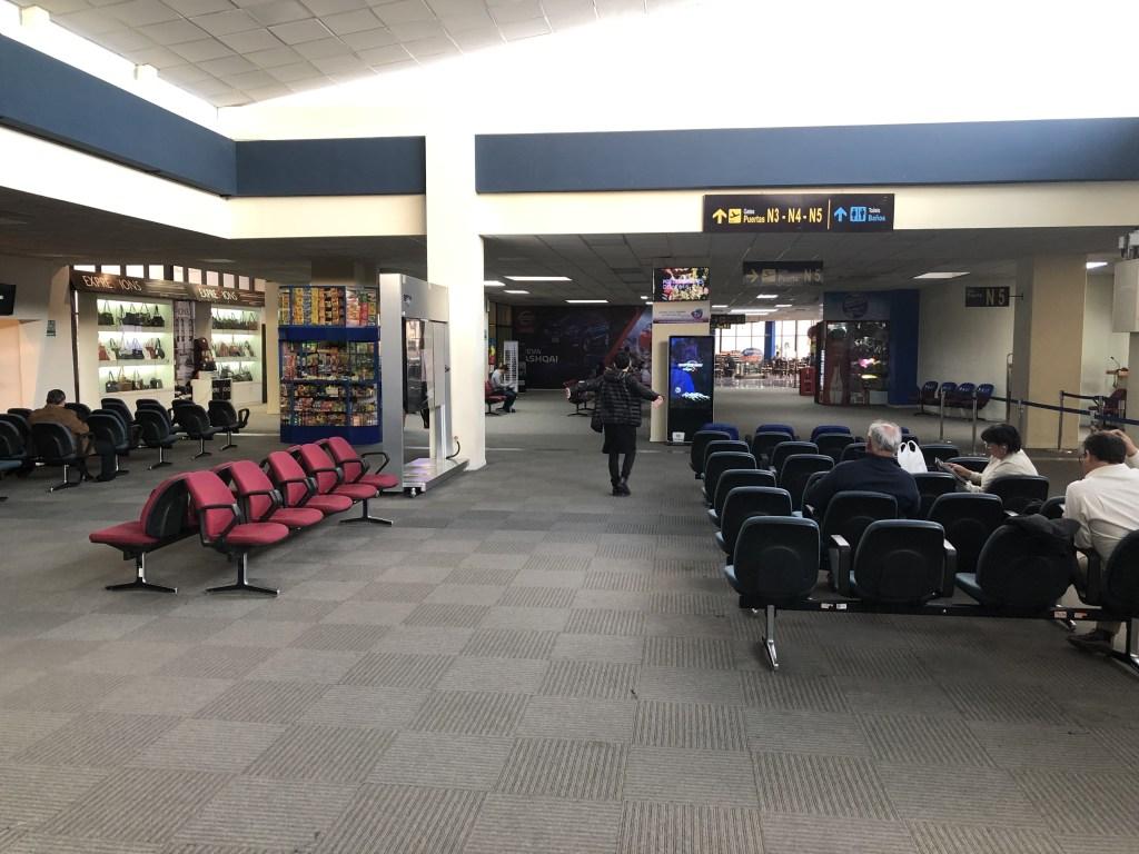 エルアルト国際空港の待合室