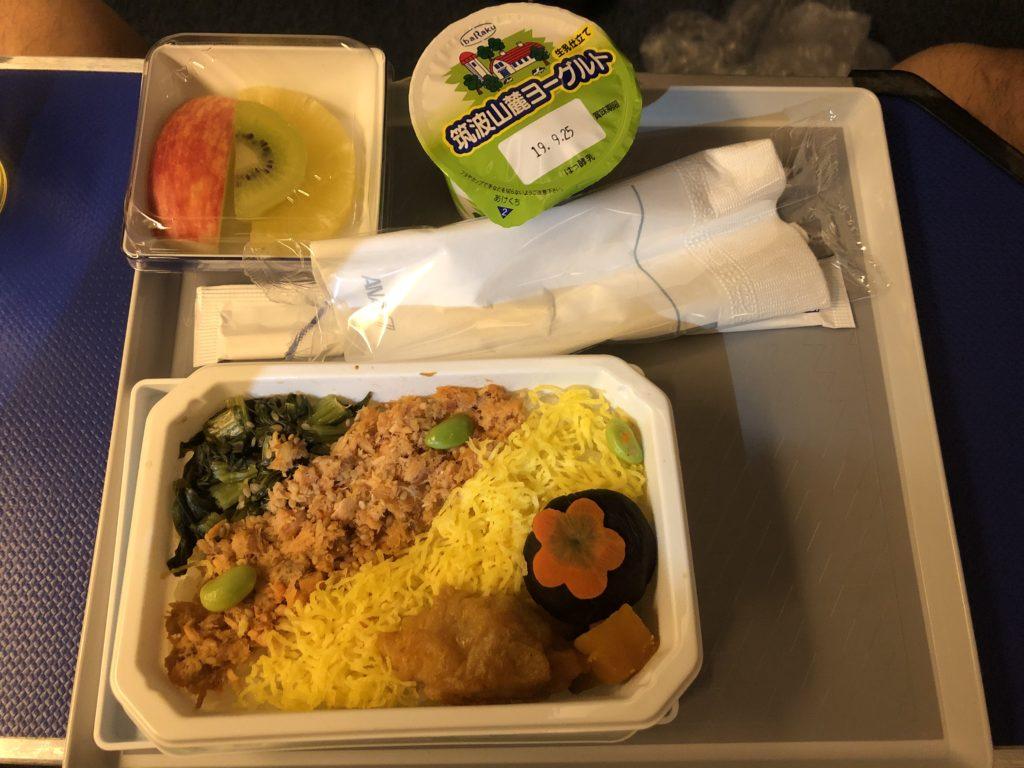 NH174便機内食鮭ご飯