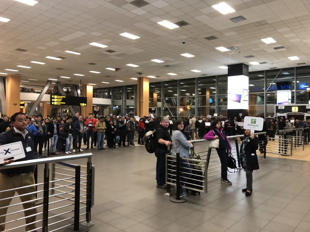 リマ ホルヘ・チャベス国際空港の到着ロビー