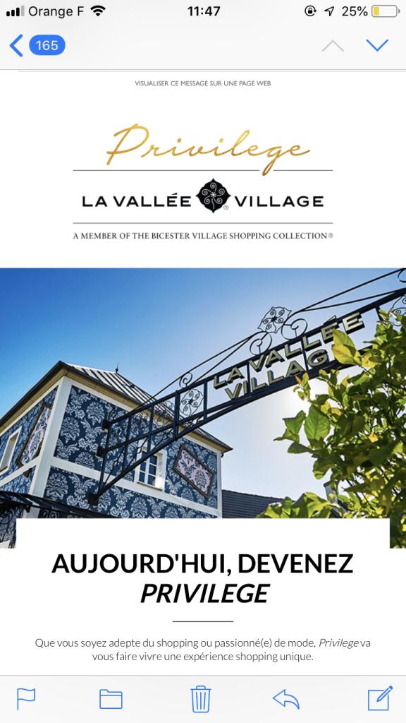 ''ラ・ヴァレ・ヴィレッジ''( La Vallée Village)ではWiFiも提供しています。