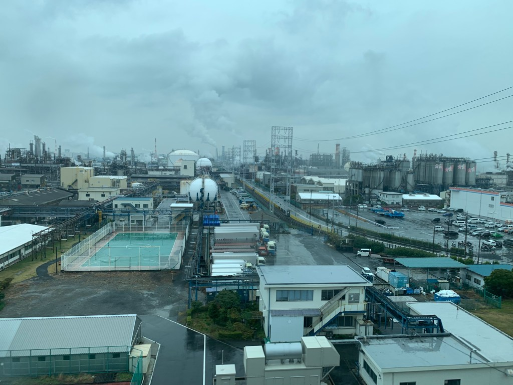 ANAC川崎工場へ向かう途中に通った川崎の工業地帯