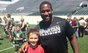 Me and my coach, Brandon Clemons.