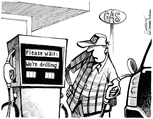 Cartoons: Oil in the news : Dangerous Intersection