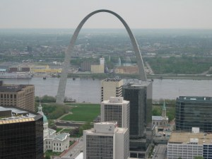 East St. Louis, Illinois, from St. Louis, Missouri - 2008 photo by Erich Vieth