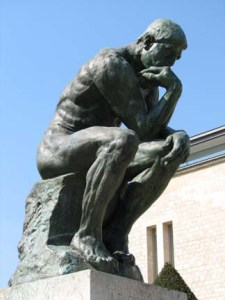 Image of Rodin's Thinker by santanartist at Flickr (creative commons)