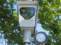 Red light camera in use in Beaverton, OR.  From Wikipedia (commons)