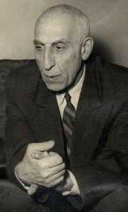 Mosaddeq- former Prime Minister of Iran.  via Wikipedia