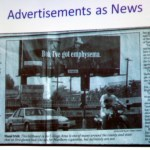 Advertisement as news