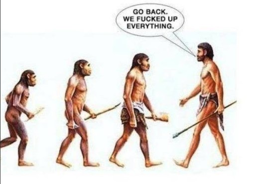 evolution screwed up