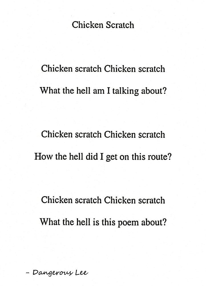 Chicken Scratch poem
