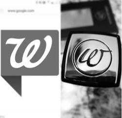Womanizer 2GO cap logo vs the Walgreen W logo