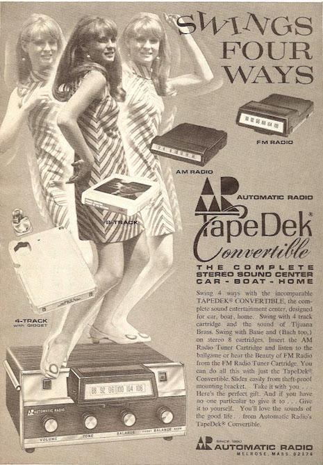 Automatic Radio Tape Dek Convertible ad, 1970s