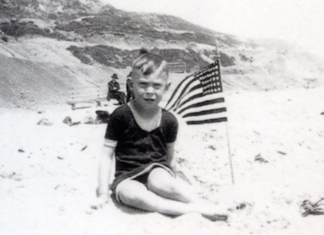 Baby Charles Bukowski on the beach 1920's