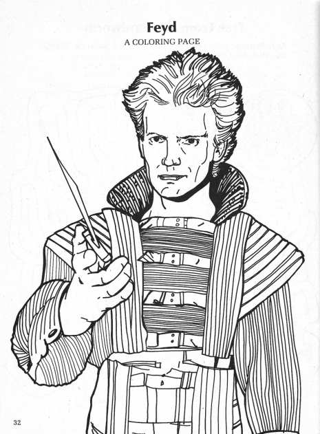 These odd 'Dune' coloring books adapted from the David