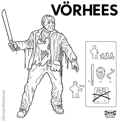 Your favorite movie villains are now IKEA instruction