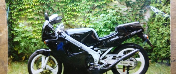 my first bike – a Yamaha TZR250
