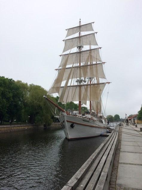 Die Dané (Dange) in Klaipeda