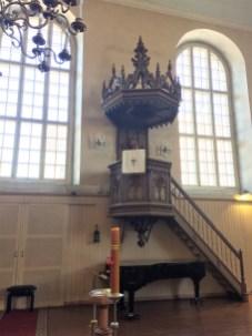 Holzkanzel in Elisabeth-Kirche Pärnu (Estland)