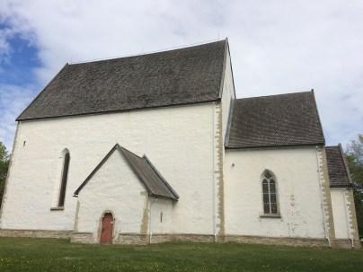 Kirche ohne Kirchturm auf Muhu (Estland)